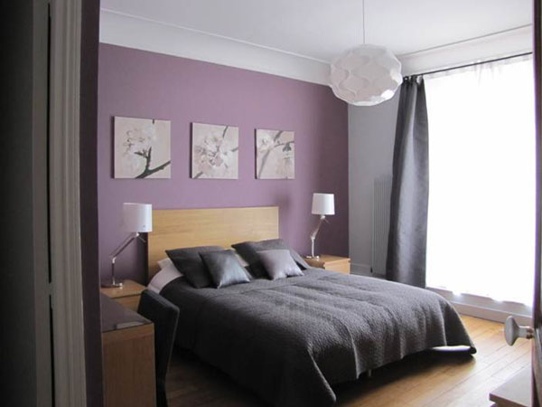 chambre mauve gris et blanc pr l vement d 39 chantillons et une bonne id e de. Black Bedroom Furniture Sets. Home Design Ideas