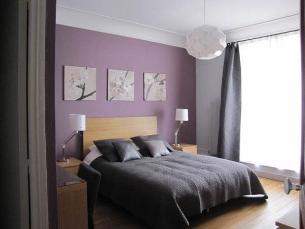 Chambre Mauve Et Noir Design De Maison