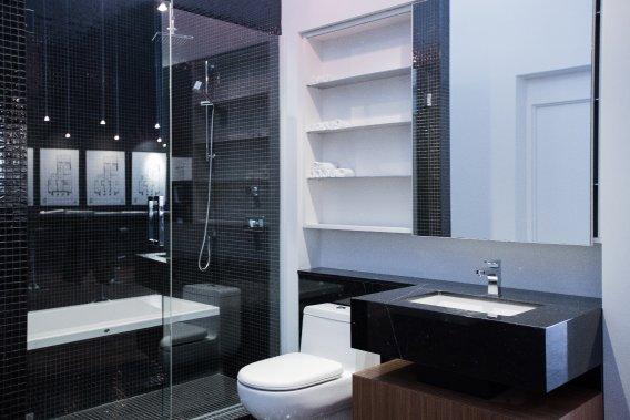salle bains principale douche baignoire - Salle De Bain Douche Et Baignoire